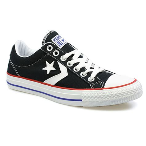 converse ox low black converse player ev ox black and white canvas low top