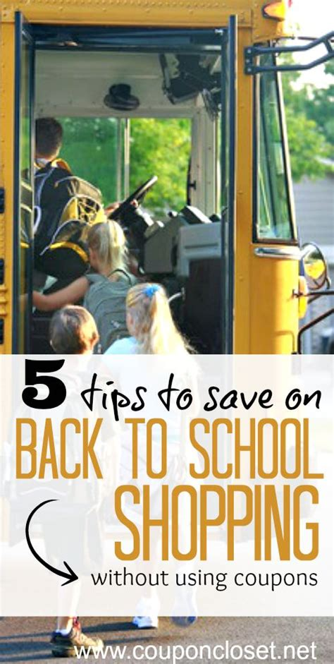 5 ways to save on back to school shopping coupon closet