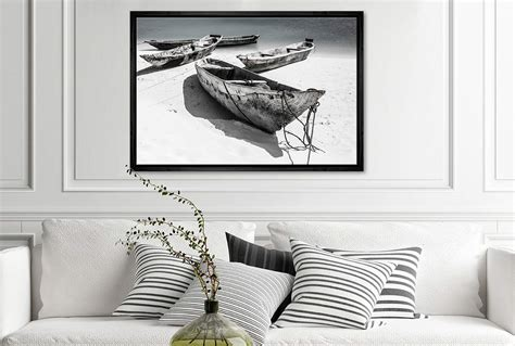 Painted with turquoise chalk paint and clear top coat to keep paint from chipping off. Buy Rustic Boats on Beach | Canvas Wall Art Print Online Australia | Final Touch Decor