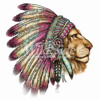 Headdress Indian Native American Lion Head Clipart