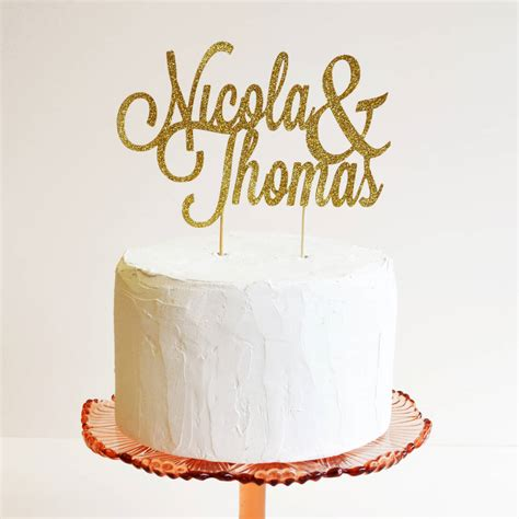 Black Kitchen Ideas - personalised name wedding cake topper by may contain
