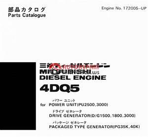 Mitsubishi Diesel Engine 4dq5 Parts List