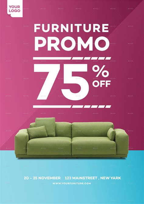 home furniture promo flyer  tokosatsu graphicriver