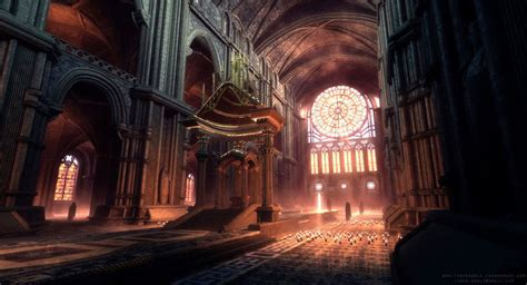 UDK The Cathedral by TheRealFroman Fantasy concept art