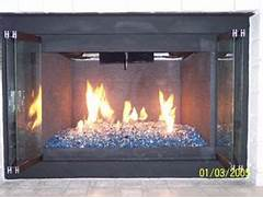 Fireplaces With Glass Rocks Fire Glass Fireglass Blue Fireplace And Fire Pit Glass