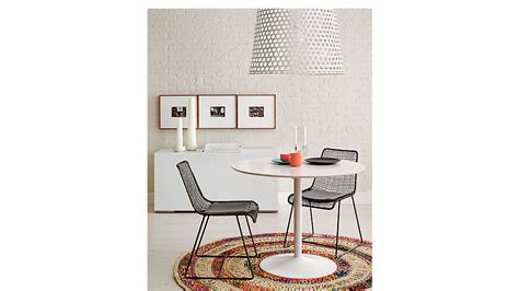 odyssey white tulip dining table cb