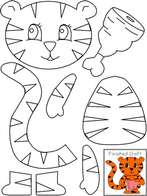 preschool cut outs cut paste tiger crafts and worksheets for preschool 225