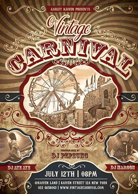 top   carnival flyer templates   psd