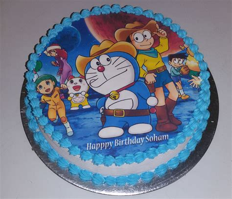 Doraemon Photo Cake 1kg @ Inr1099, Free Online Delivery