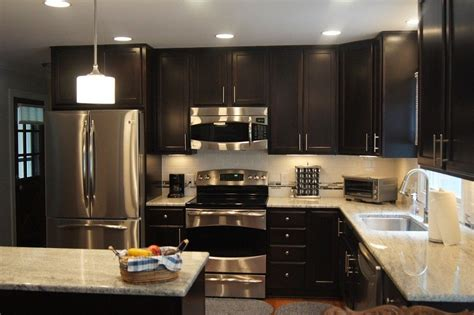dazzling kashmir white granite method raleigh modern kitchen remodeling ideas  dark chocolate cabinets full overlay cabinet doors granit