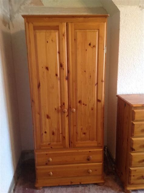 Pine Wardrobes by Solid Pine Bedroom Furniture Including 2 Wardrobes 2