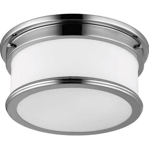 deco style flush fitting bathroom ceiling light chrome