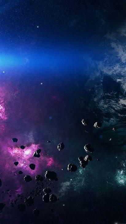 Iphone Purple Space Plus Belt Asteroids Wallpapers