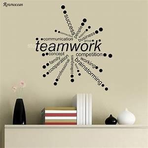 Radiation In Interior Design Creative Teamwork Words Design Vinyl Wall Stickers Office