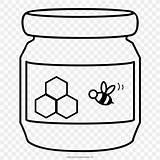 Honey Coloring Jar Drawing Miel Butter Peanut Colorear Mel Dibujo Colorir Desenho Disegno Miele Libro Ultra Dessin Clipart Template Aesthetic sketch template