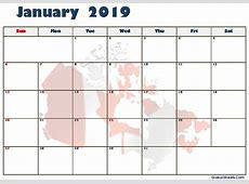 January 2019 Calendar Fillable Template Printable Letter