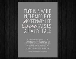 printable fairy tale wedding invitation suite rsvp by With wedding invitation quotes fairytale