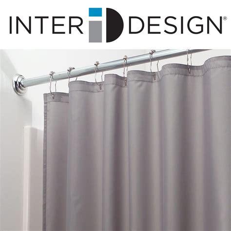 interdesign 96 inch fabric waterproof shower