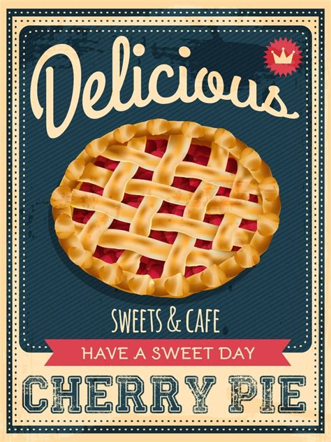 pie cherry poster huge vector illustrations american culture did know tell lie cannot washington clip george cut calories variation eat