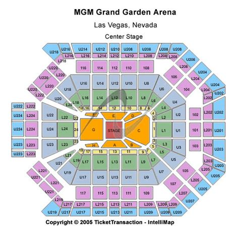 Mgm Grand Ka Floor Plan by Venue Information For Mgm Grand Garden Arena