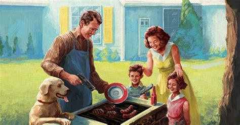 american dream  satire  gun culture misses