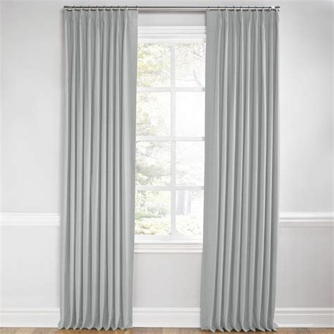 our light cool gray linen curtains are the