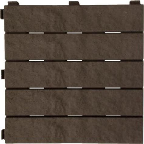 multy home 12 in x 12 in earth rubber deck tile 6 pack
