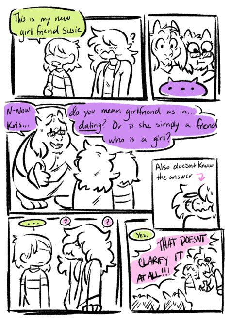 deltarune kris susie tumblr video games undertale comic gamer humor comics