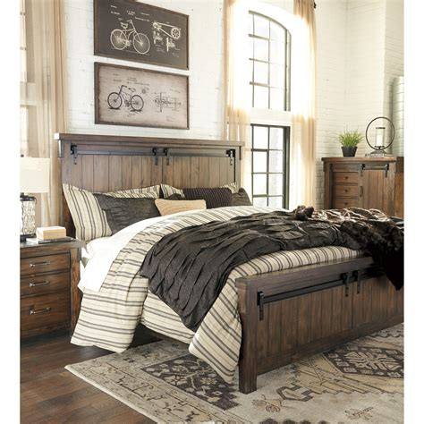 barn door bedroom set signature design by lakeleigh king panel bed with 4318