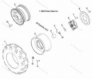 Polaris Atv 2006 Oem Parts Diagram For Wheel  Front   Ax  Ay