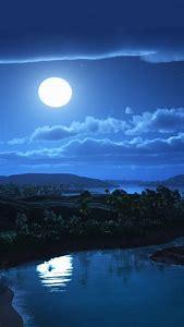 Beautiful Full Moon Night Sky