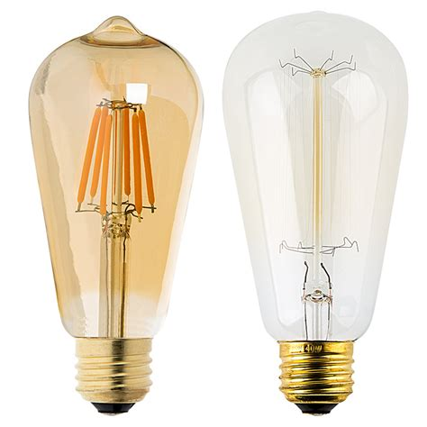 st18 led filament bulb gold tint vintage light bulb 35