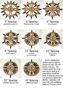 Twobadcatsllc Manual Rolling Dibbler  Clever Spacing