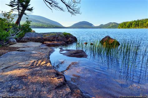Bar Harbor Maine Eagle Lake In Acadia