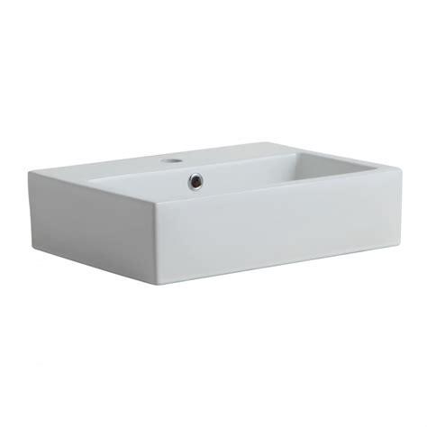 Lavabi D Appoggio In Ceramica Per Il Bagno Lavabo Da Appoggio Rettangolare In Ceramica Kv Store