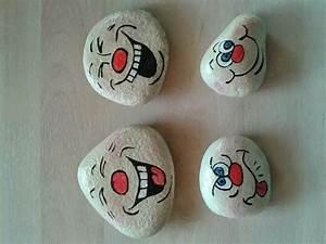 Bemalte Steine Gesichter Basteln Steine Bemalen