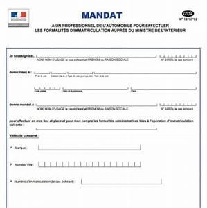 Certificat De Destruction A Remplir En Ligne : mandat immatriculation formulaire cerfa instructions ~ Gottalentnigeria.com Avis de Voitures