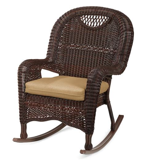 prospect hill wicker rocking chair outdoor plow hearth