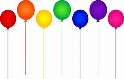 Balloons Birthday Rainbow Seven Happy Calista Fiona