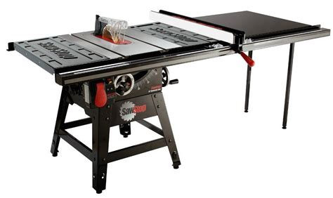 table saw safety stop sawstop cns175 tgp52 1 3 4 hp contractor saw with 52 inch