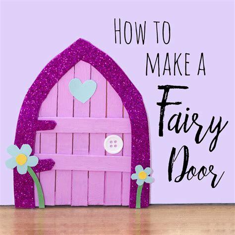 door craft lolly stick fairy door doodle and stitch