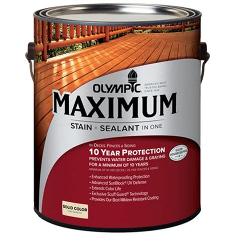 Olympic Deck Cleaner Walmart by Olympic Ppg Inc 1 Gallon Cedar Exterior Deck Fence