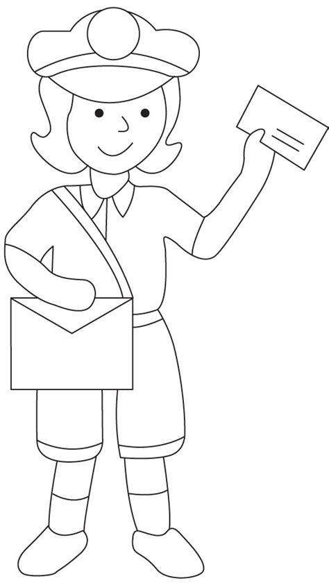 postman coloring page   postman coloring page  kids  coloring pages