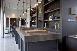 cuisine style design industriel ideal pour loft ou grande With deco cuisine pour meuble design