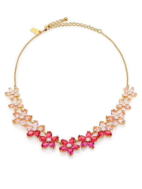 kate spade ombre bouquet small necklace  pink lyst