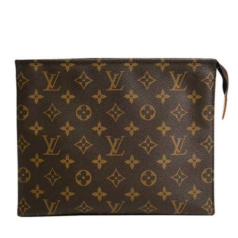louis vuitton monogram canvas mens unisex carryall storage travel clutch bag  stdibs