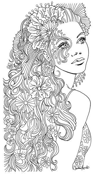 woman  christine kerrick adult coloring therapy