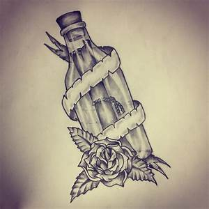 Message in a bottle tattoo sketch by - Ranz | Pinterest ...