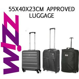 wizzair cabin baggage fits wizz air paid 55x40x23cm luggage cabin holdall