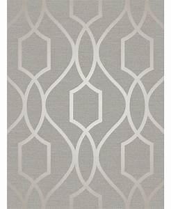 Apex Geometric Trellis Wallpaper Grey and Taupe Fine Decor ...